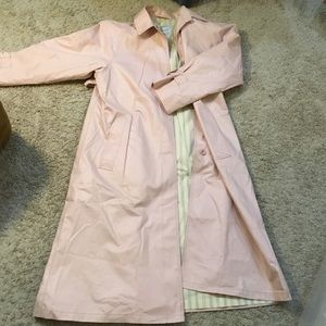 London Fog Ladies Pink Lined Full Trench Coat